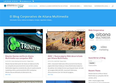 Blog corporativo de Aitana Multimedia